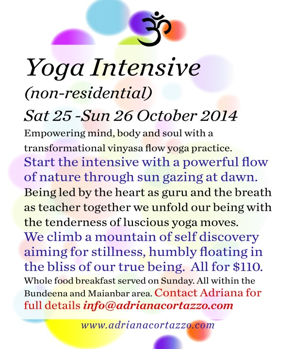 October yoga Intensive